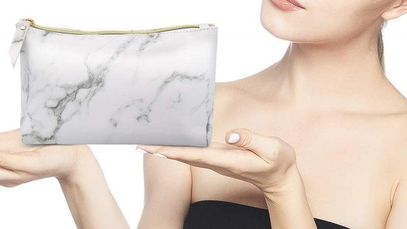 Marble Makeup Case Lifestyle