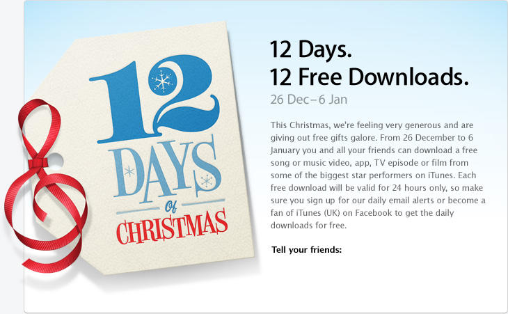 iTunes 12 Days of Christmas Promo