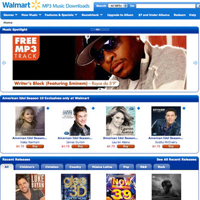 Unable to Compete With iTunes, Walmart Closes Doors on
