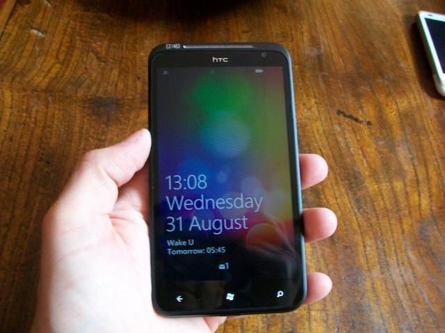 HTC TITAN in hand front