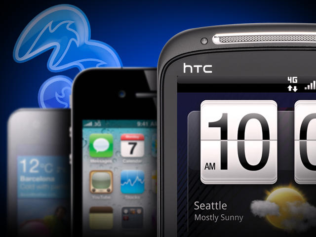 Top 5 Phones from Three - Heading