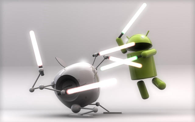 Android vs Apple Duel