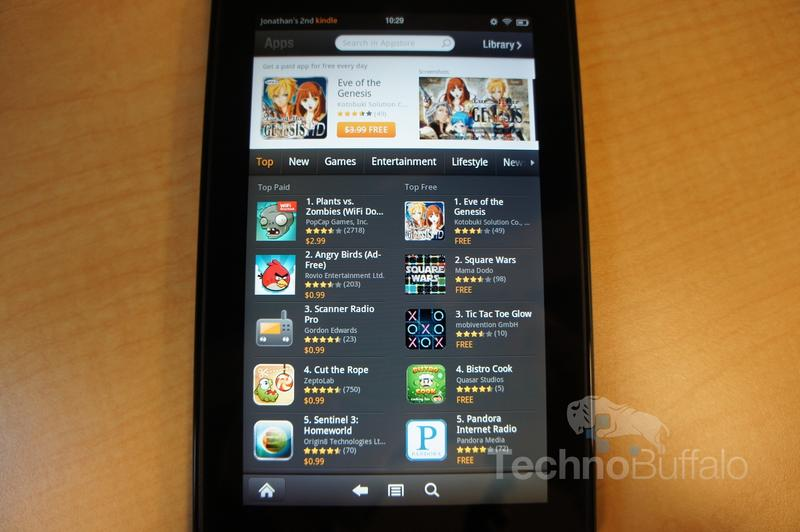 Kindle Fire OS App Store