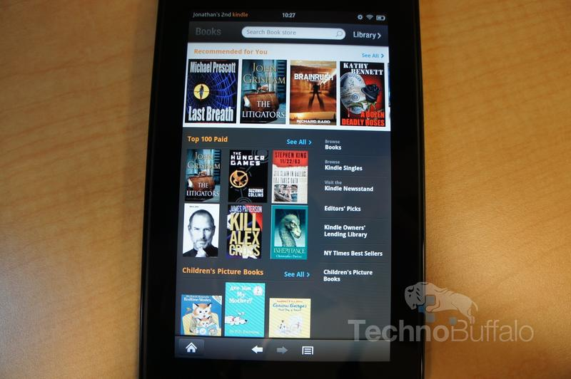 Kindle Fire OS Book Store