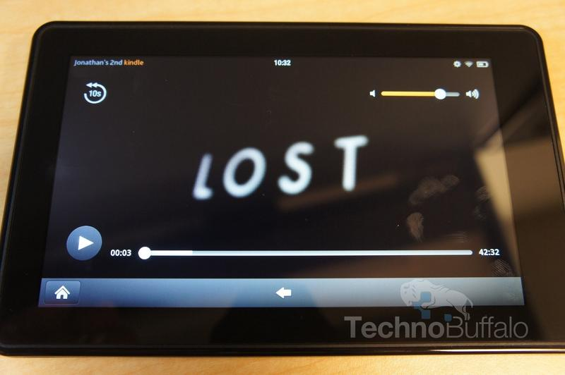 Kindle Fire OS Video Playback Buttons