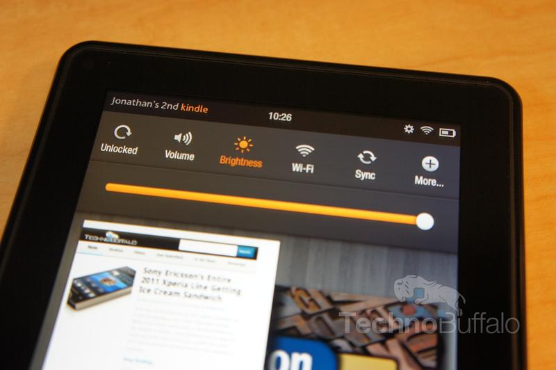 Kindle Fire OS Quick Settings
