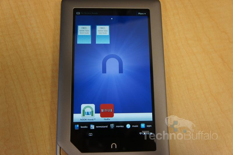 Nook Tablet Home