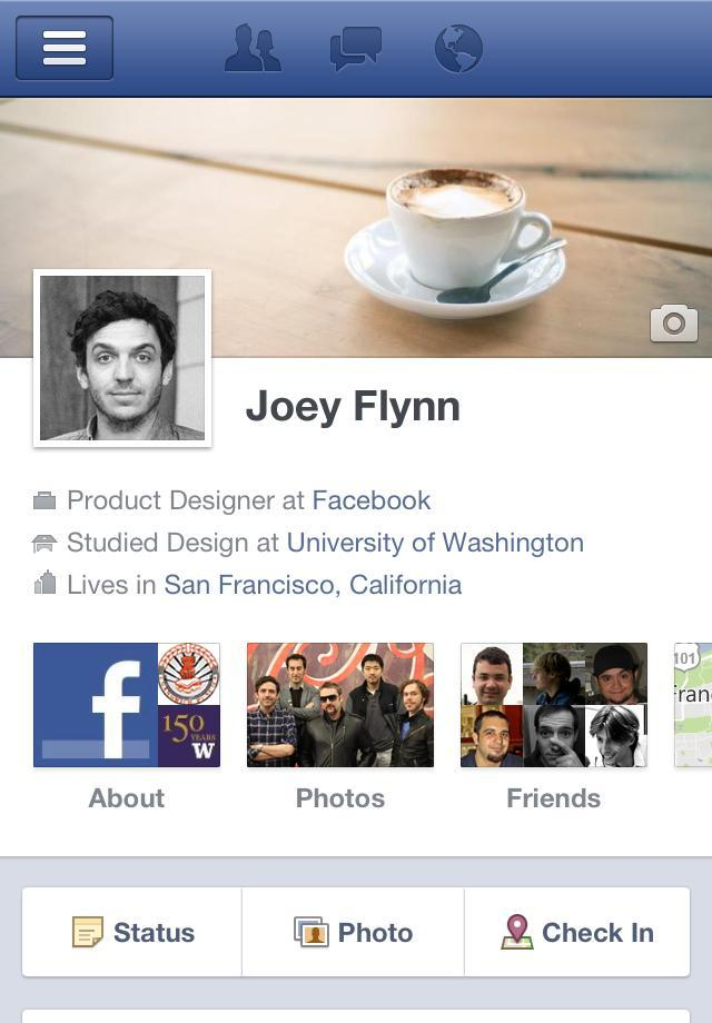 Facebook Mobile Timeline iPhone