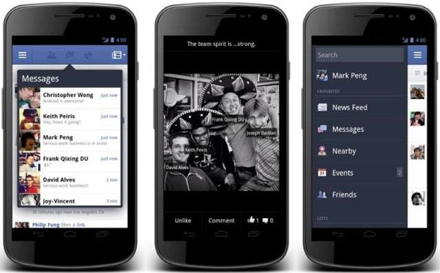 New Facebook app for Android