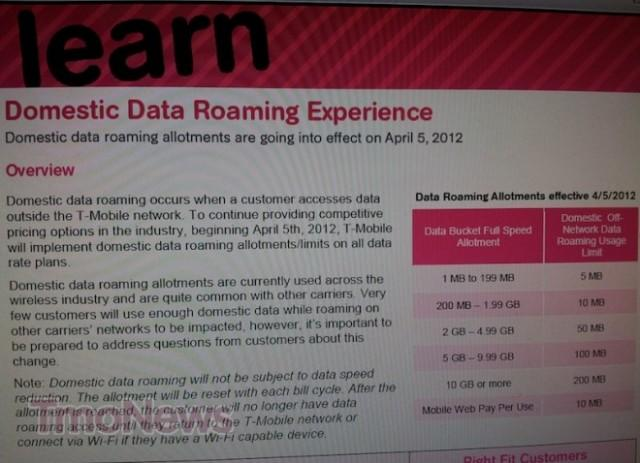 T-Mobile Domestic Data Roaming Change Apr 5