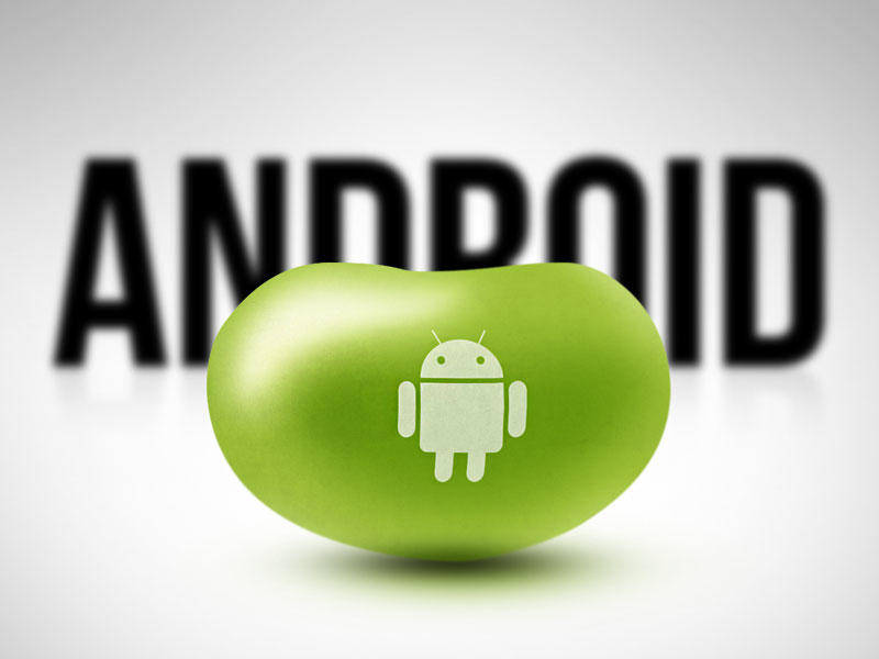 Android - Jelly Bean Logo with Text