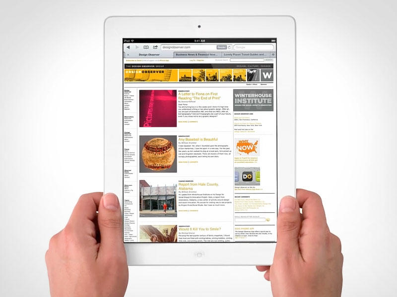 New iPad - Safari - Web Browse
