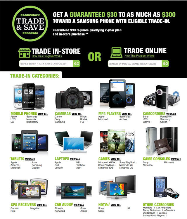 Radio Shack trade-in