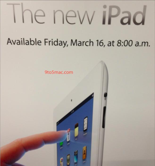 Apple poster confirming early iPad launch
