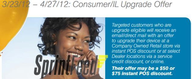Sprint upgrade promo March 23 2012