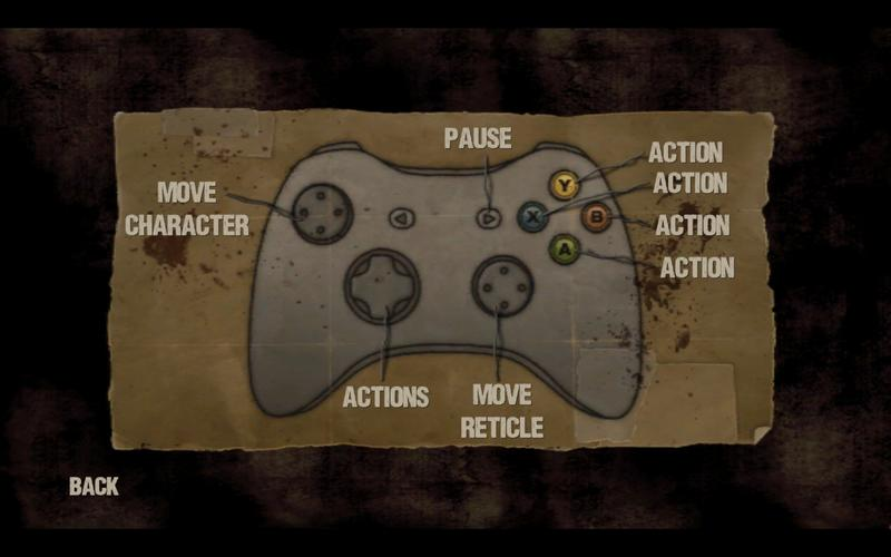 The Walking Dead Control Menu for PC