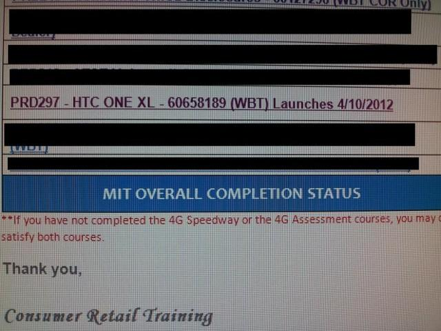 AT&T htc one x training