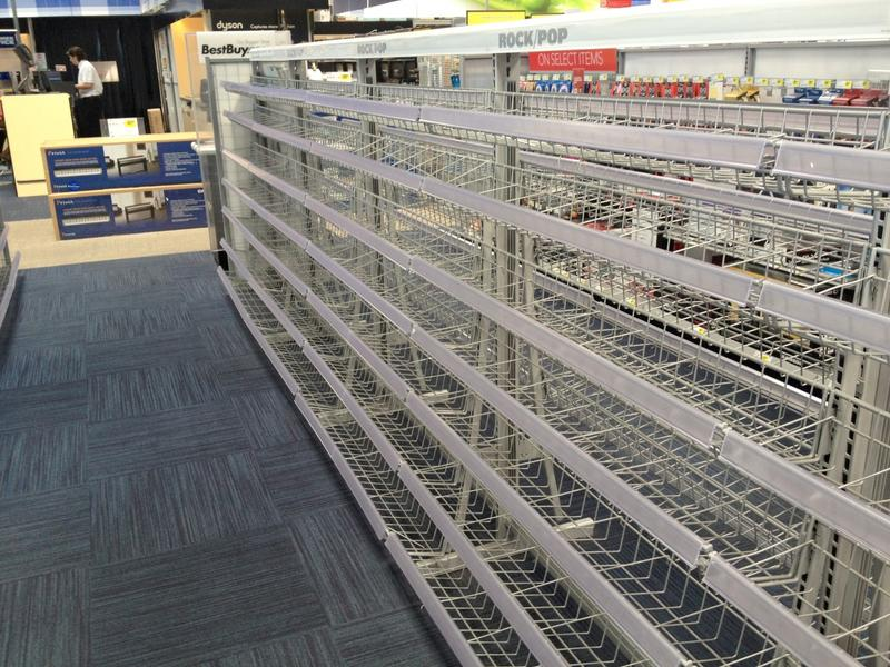 Best Buy Store Closing Empty Racks