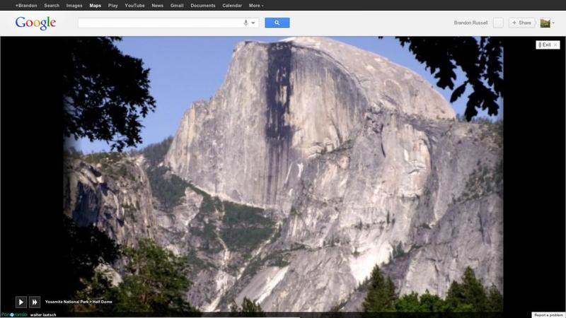 Google Maps photo tour Half Dome