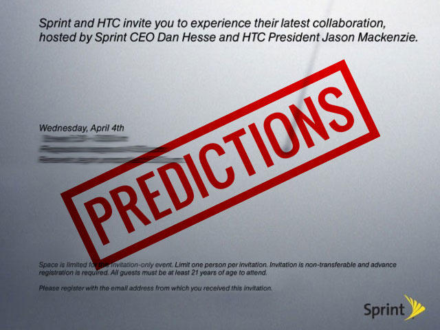 HTC Sprint Predictions