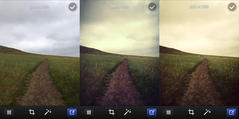 Facebook Camera filters applied
