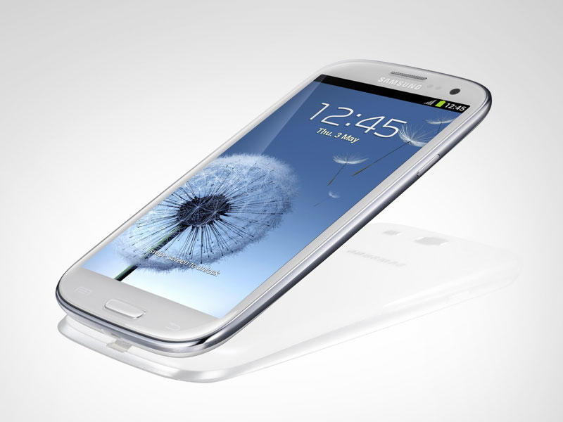 Samsung Galaxy S III - White - Tilted