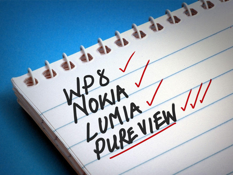Nokia - Windows Phone 8 - Pureview - Check list