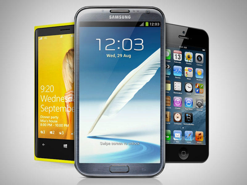 iPhone 5, Windows Phone 8, Galaxy Note 2 - Celebration