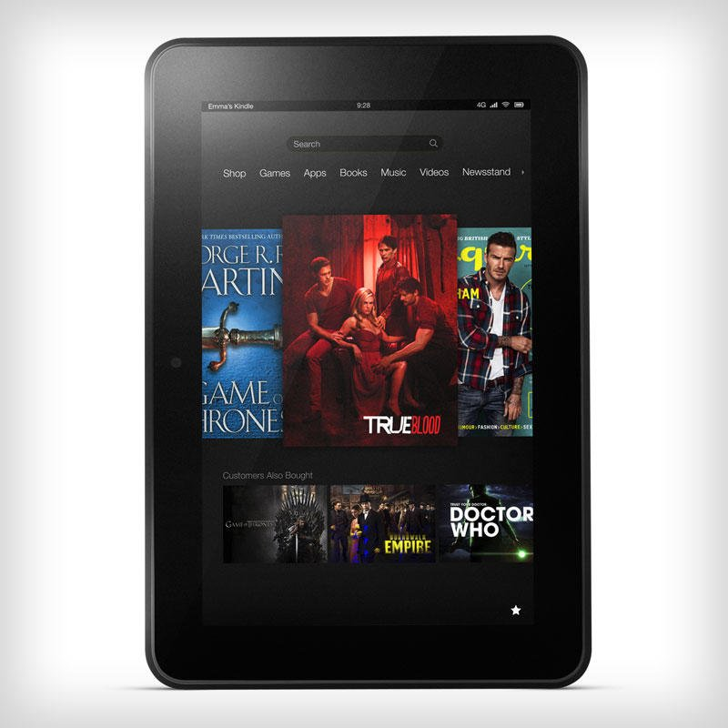 Kindle Fire HD 8.9 chart comparison