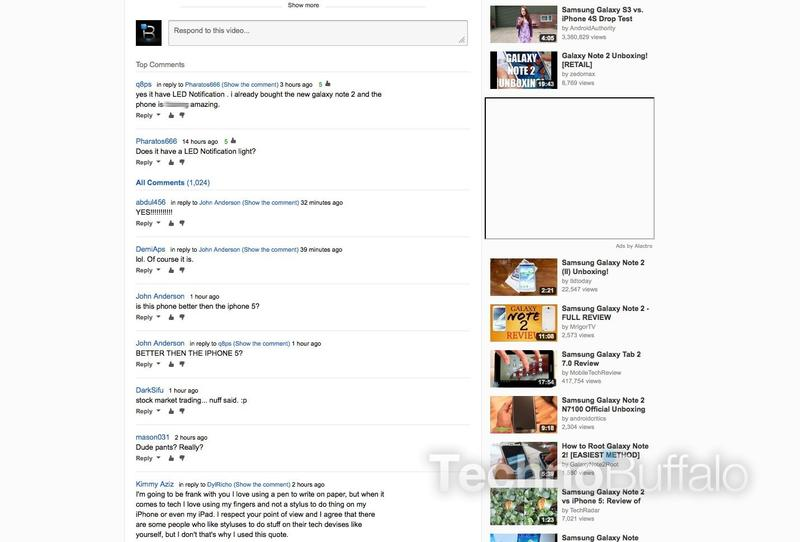New YouTube layout full comments