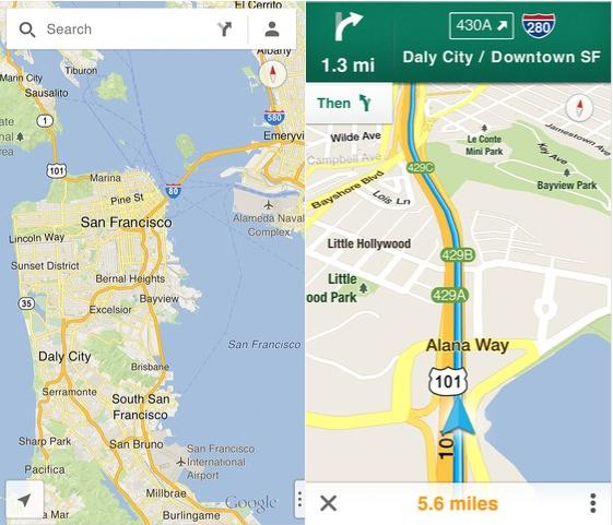 Google maps for ios 5