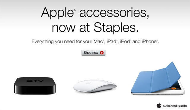 Apple accessories at Staples