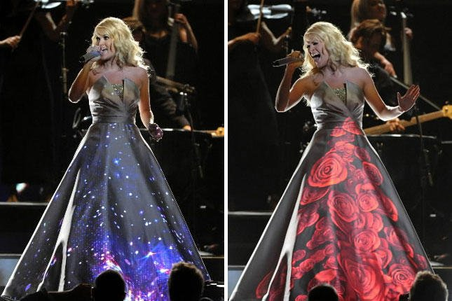 Carrie-underwood-projected-dress