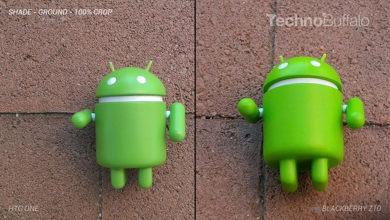 HTC One Camera vs BlackBerry Z10 Camera - Outdoors on the Ground - Full Crop Resolution