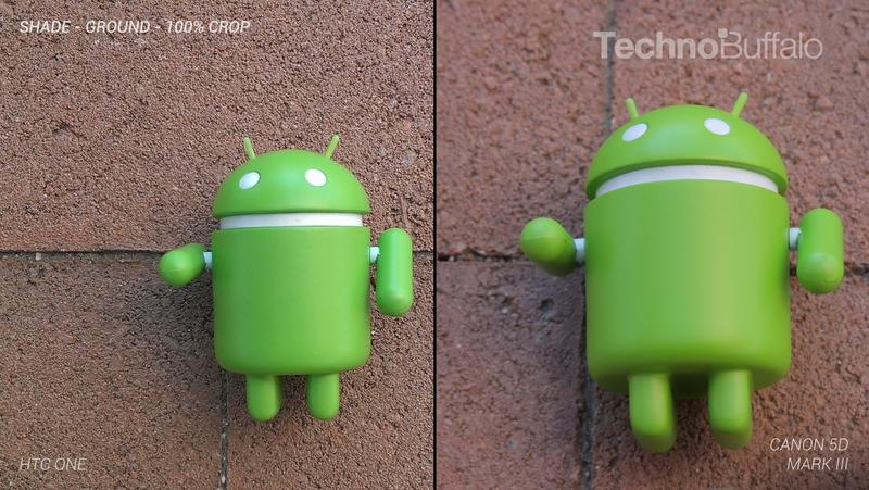 HTC One Camera vs Canon 5D Mark III - Outdoor on the Ground - Full Crop Resolution