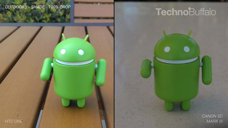 HTC One Camera vs Canon 5D Mark III - Outdoor in the Shade - Full Crop Resolution
