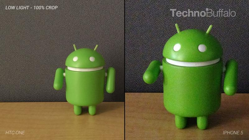 HTC One Camera vs iPhone 5 Camera - Indoor in Low Light - Full Crop Resolution