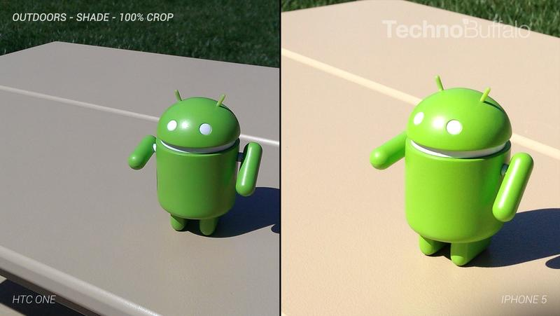 HTC One Camera vs iPhone 5 Camera - Outdoor - Full Crop Resolution