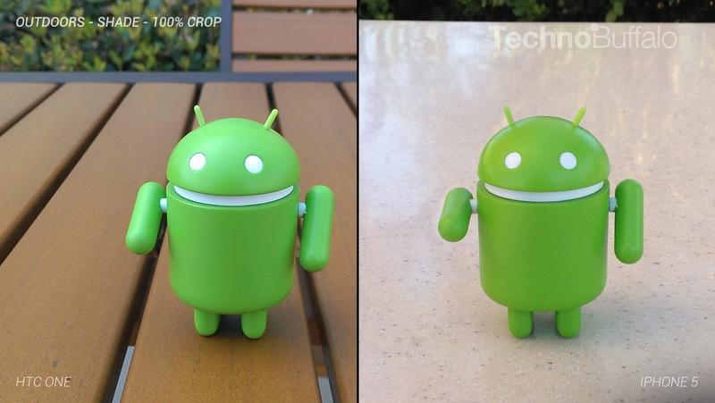 HTC One Camera vs iPhone 5 Camera - Outdoor in the Shade - Full Crop Resolution