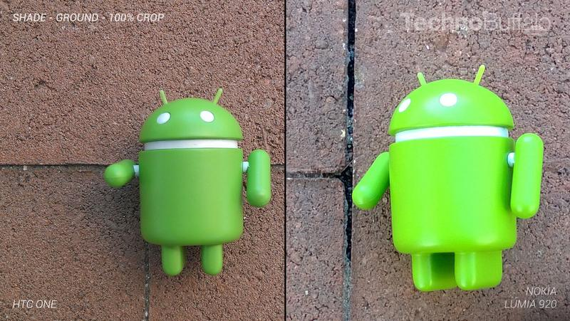 HTC One Camera vs Nokia Lumia 920 Camera - Outdoor on the Ground - Full Crop Resolution