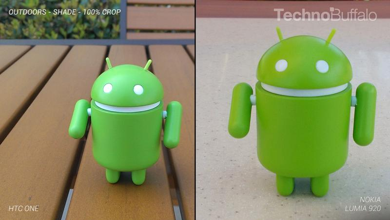 HTC One Camera vs Nokia Lumia 920 Camera - Outdoor in the Shade - Full Crop Resolution