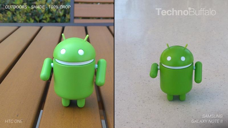 HTC One Camera vs Samsung Galaxy Note II Camera - Outdoor on the Ground - Full Crop Resolution
