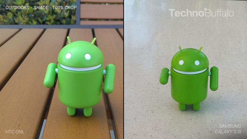 HTC One Camera vs Samsung Galaxy S III Camera - Outdoor in the Shade - Full Crop Resolution