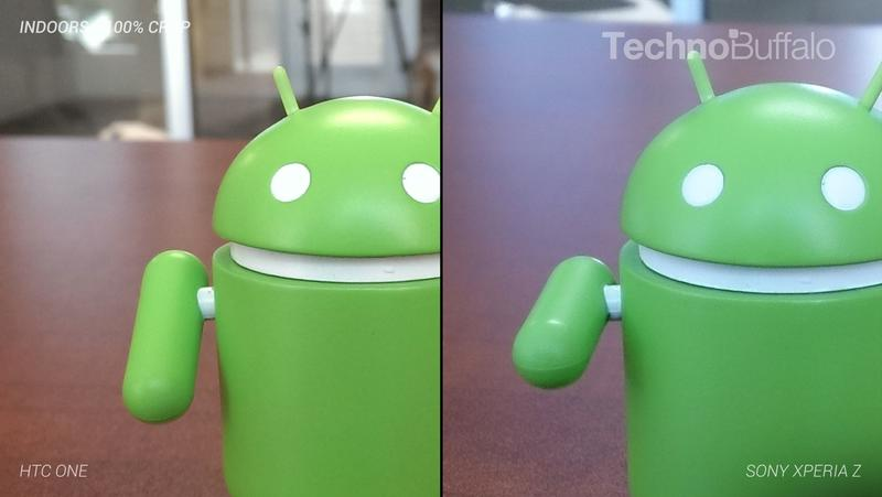 HTC One Camera vs Sony Xperia Z Camera - Indoor - Full Crop Resolution