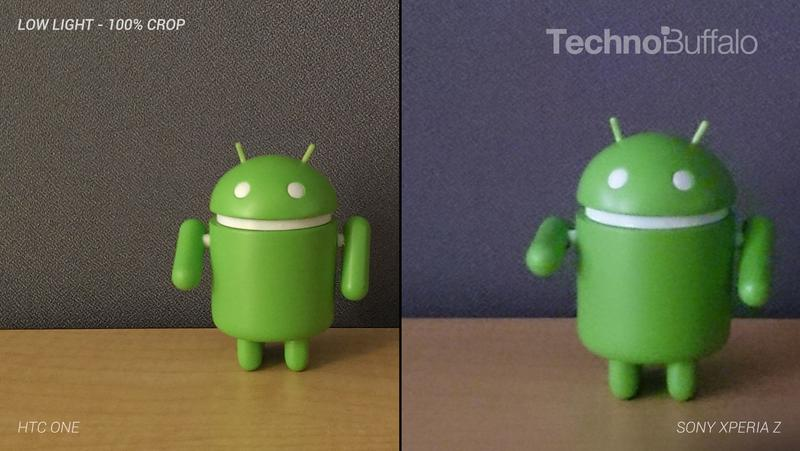 HTC One Camera vs Sony Xperia Z Camera - Indoor in Low Light - Full Crop Resolution