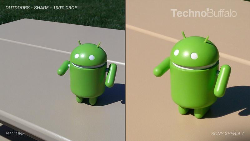 HTC One Camera vs Sony Xperia Z Camera - Outdoor - Full Crop Resolution