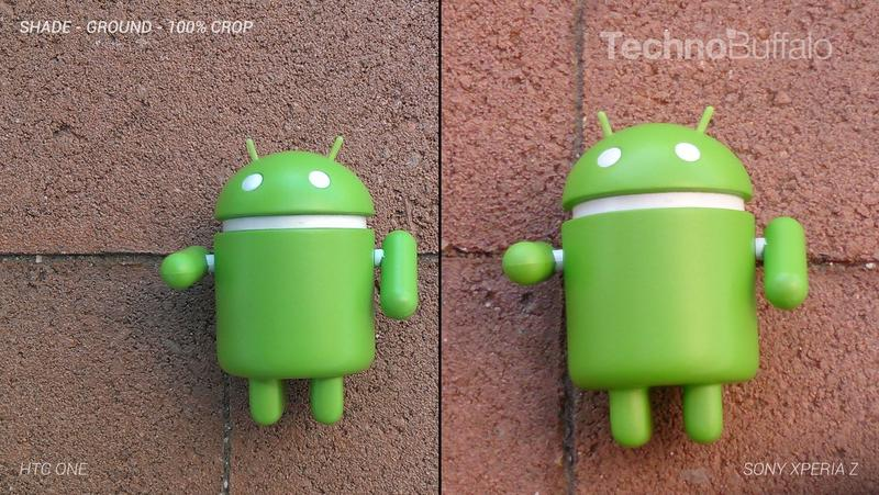 HTC One Camera vs Sony Xperia Z Camera - Outdoor on the Ground - Full Crop Resolution