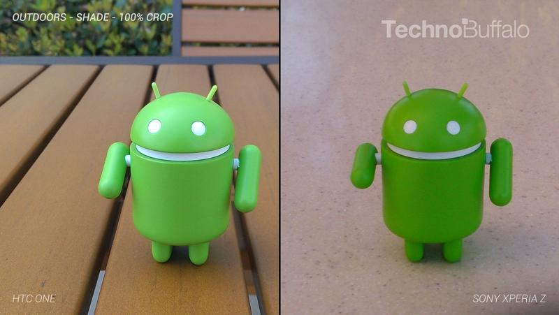 HTC One Camera vs Sony Xperia Z Camera - Outdoor in the Shade - Full Crop Resolution
