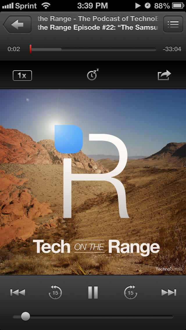 Podcasts app - Tech on the Range