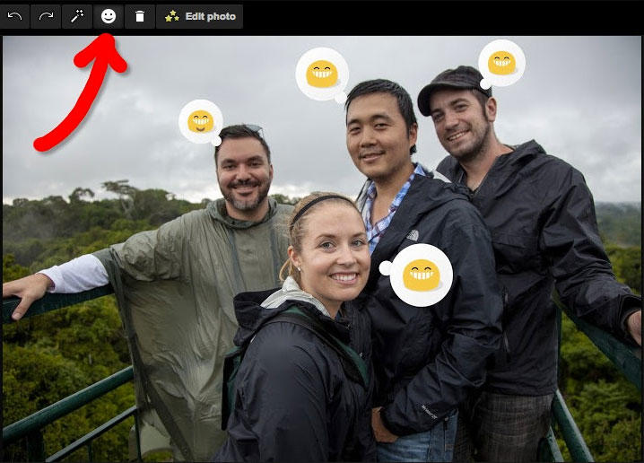 Google Photos with Emoticons